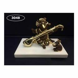 3048 Gold Plated Ganpati Statue