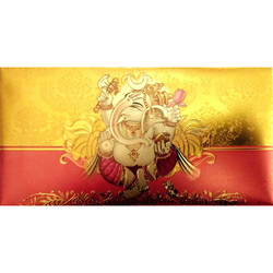 Gold Plated Envelopes for Ganesh Pooja