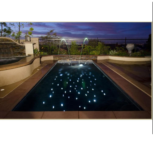 Fiber Optic Lighting Solutions Swimming Pool Flooring