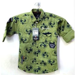 Printed Kids Designer Hosiery Shirt