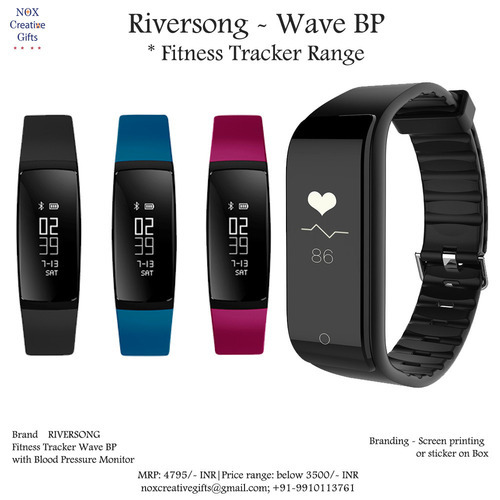 riversong wave bp black fitness tracker with bp monitor model no