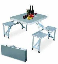 Heavy Duty Aluminium Portable Folding Picnic Table & Chairs Set