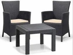 Outdoor 2 Seat Rattan Balcony Garden Chair Set