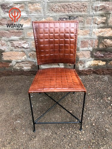 Astonishing Woavin Industrial Commercial Vintage Living Room Indoor Fashionable Leather Retro Dining Chair Dailytribune Chair Design For Home Dailytribuneorg