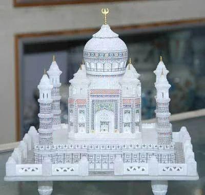 White Taj Mahal Marble Premium Gift