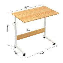 Kawachi Portable Foldable Height Adjustable Studying Desk Bedside Laptop Table