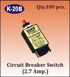 K-20B 2.7A Circuit Breaker Switch