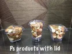 Transparent Plastic Mousse Cups With Lids, Packaging Type: Box, Size: 60 Ml