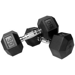 6-Sided Black Hexagon Dumbbell, Weight: 2.5 Kg To 40 Kg