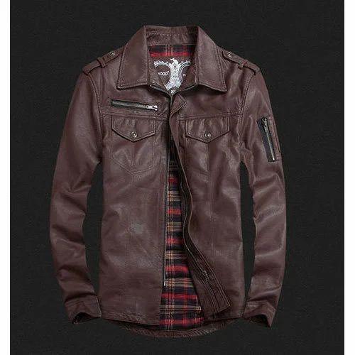 Vintage Leather Jacket >> Men S Vintage Leather Jacket