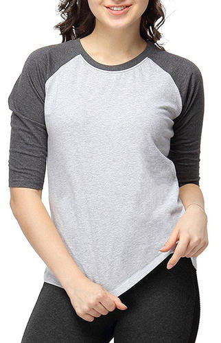 d748f9496a6 Downtown Fashion Womens Full Sleeve Round Neck Raglan T Shirt
