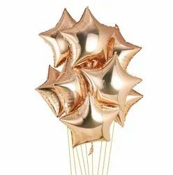 Rose Gold Star Shaped Foil Balloon