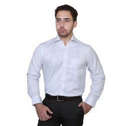 Plain Cotton Men'S White Shirt