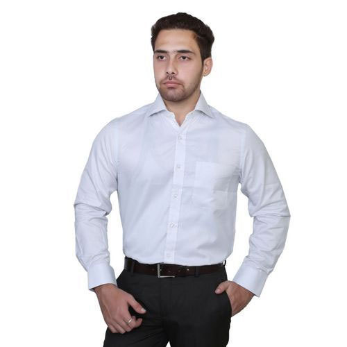 Plain Cotton Men' S White Shirt