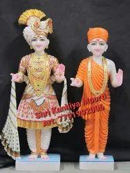 Swaminarayan White Marble Statue