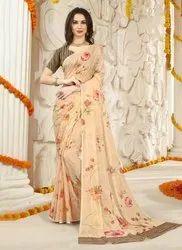 Tabby Silk Flower Printed Sarees