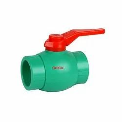 GOKUL PPR BALL VALVES, Size: 1/2 To 2.5, 1 PICE