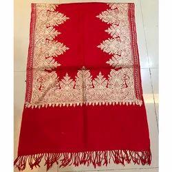 Red Designer Pashmina Stole