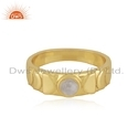 18k Gold Plated Silver Moonstone Rings Supplier