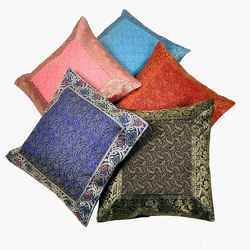 Multicolor Brocade Quilted Cushion Cover 112