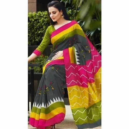 670b41db699 Multi Color 5.5 Meter Bhagalpuri Silk Saree
