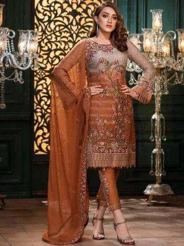 0205b0b8c2 RAMSHA Vol 13 at Rs 33600 /set   Chiffon Salwar Kameez, Chiffon Suit ...