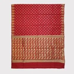 Red Organza Handloom Saree