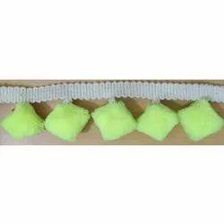 Green Pom Pom Fringe