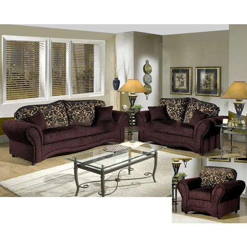 Wood Brown Sofa Set