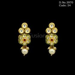 Designer Kundan Hanging Earrings