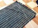 Hand Block Printed Blue Indigo Dabu Durrie Rug