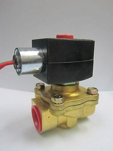 Asco Ef8210g095 120/60ac 2-Way Brass 3/4 In Solenoid Valve Normally Closed