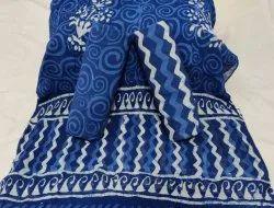 Bagru Hand Block Printed Indigo Cotton Suit Material