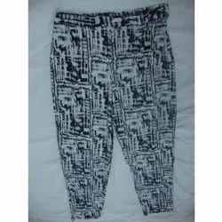 Printed Hoseiry Pencil Pants