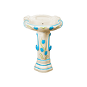 Printed Quartz And Barium Carbonate Pedestal Wash Basin, Shape: Oval