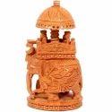 Wood En Handicraft Elephant Ambabari, Size (inches): 6 Inchs