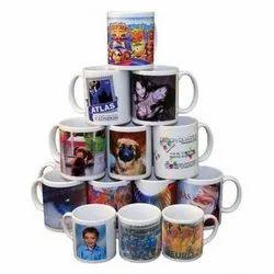 Printed Ceramic Promotional Sublimation Coffee Mug, Capacity: 300 mL