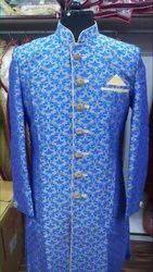 Male Blue Sherwani, Size: Fre
