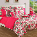 Swayam Magenta Colour Single Bed Sheet with Pillow Covers