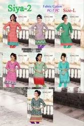 Printed Casual Wear Anmazing Factory Multi Color Daily Wear Cotton Kurti