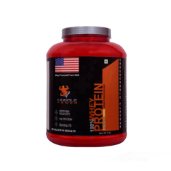 Muscle Power Whey Protein Concentrate, 2kg, Packaging Type: Bottle