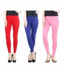 Cotton Straight Fit Ankle Length Leggings
