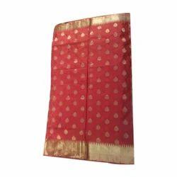 Baranasi Silk Printed Saree, Length: 6.3 m