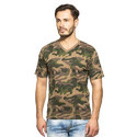 Clifton Mens Army Half Sleeve V-Neck T-Shirt