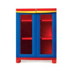 Nilkamal Freedom Glass Door Plastic Cabinet, Size: 71 x 53.5 x 95 Cm
