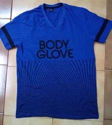 Printed V-neck Body Glove Mens T shirts