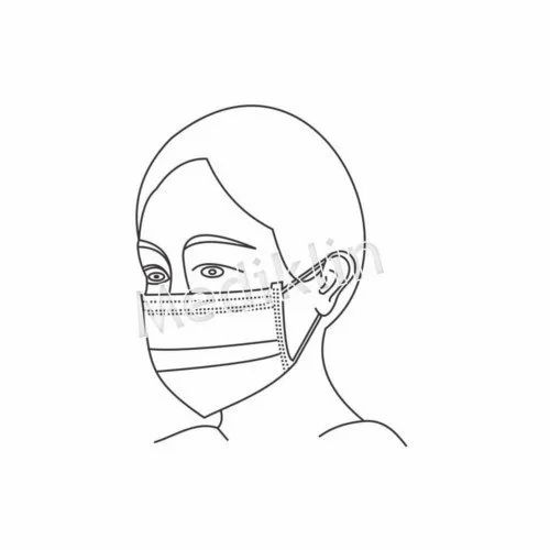2 Layer Tie Face Mask