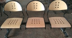 Wooden Perforated Multi Seater