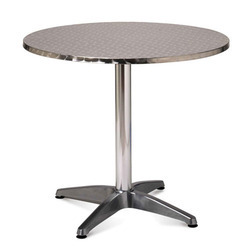 Silver Stainless Steel Round Table