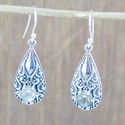 Golden Rutile Gemstone 925 Sterling Silver Earring